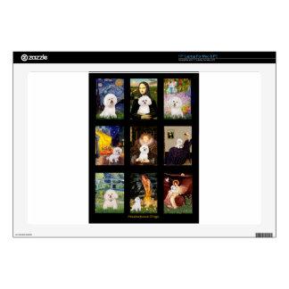 """Famous Art Bichon Frise Composite 17"""" Laptop Skins"""