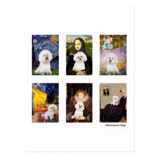 Famous Art Bichon Frise Composite (clear) Postcard