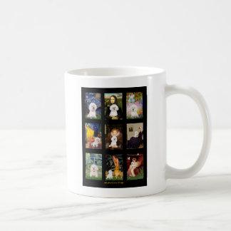 Famous Art Bichon Frise Composite Mugs