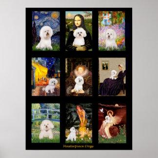 Famous Art Bichon Frise Composite Print