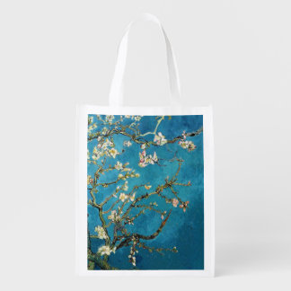 Famous art, Blossoming Almond Tree by Van Gogh Grocery Bag