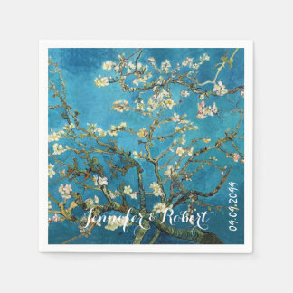 Famous art Blossoming Almond Tree Van Gogh Paper Napkins