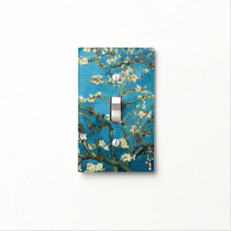 Famous art - Blossoming Almond Tree. Vincent van Light Switch Cover