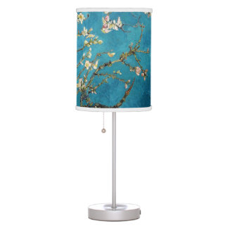 Famous art - Blossoming Almond Tree. Vincent van Table Lamp