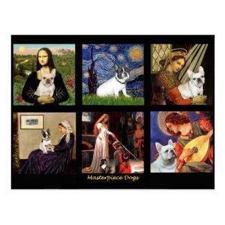 Famous Art French Bull Dog Composite Postcard