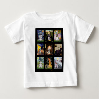 Famous Art French Bulldog Composite Baby T-Shirt