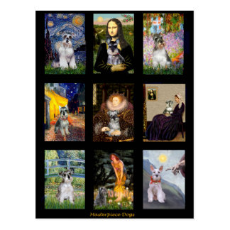 Famous Art French Bulldog Composite Postcard