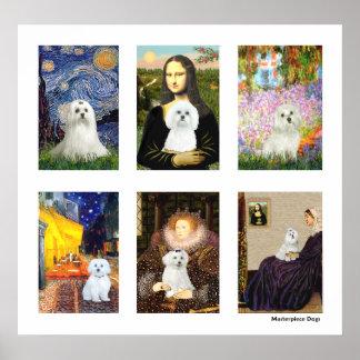 Famous Art Maltaese Composite (clear) Print