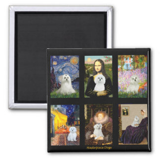 Famous Art Maltese Composite 2 Inch Square Magnet