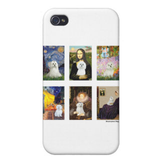 Famous Art Maltese Composite (clear) iPhone 4 Cases