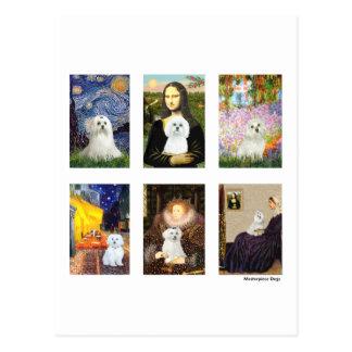 Famous Art Maltese Composite clear Post Card