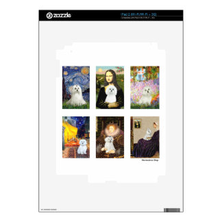 Famous Art Maltese Composite (clear) Skins For iPad 2