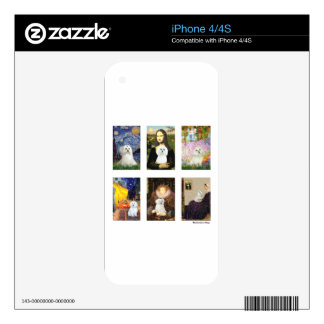 Famous Art Maltese Composite (clear) Decal For The iPhone 4