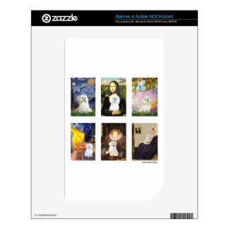 Famous Art Maltese Composite (clear) Skin For The NOOK Color