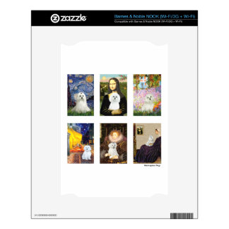 Famous Art Maltese Composite (clear) Skin For NOOK