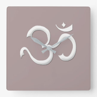 Famous Art of Om Symbol Fashion In Style Clock