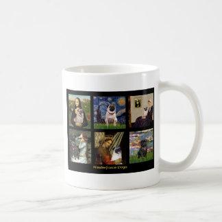Famous Art Pug Composite #1 Coffee Mug