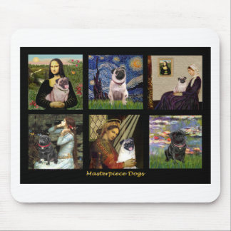 Famous Art Pug Composite #1 Mouse Pad