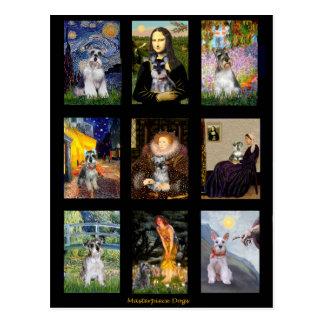 Famous Art Schnauzer Composite Post Card