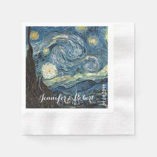 Famous art - Starry Night by Vincent van Gogh Paper Napkins