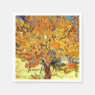 Famous art The Mulberry Tree Vincent van Gogh Disposable Napkin