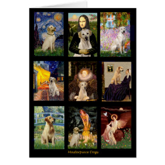 Famous Art Yellow Lab Composite Card