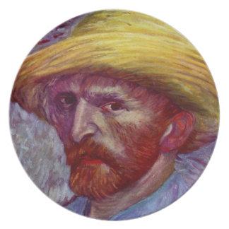 Famous Artist Self Portrait  Design Plate