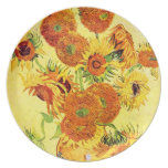 Famous Artist Sunflower  Design Plate