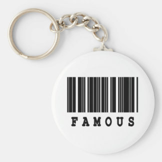 famous barcode design keychains