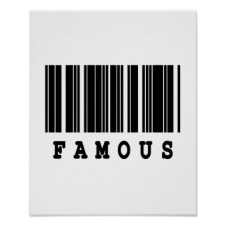 famous barcode design poster