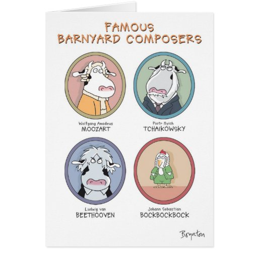 FAMOUS BARNYARD COMPOSERS GREETING CARD