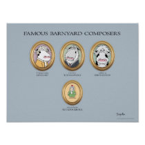 FAMOUS BARNYARD COMPOSERS poster by Sandra Boynton