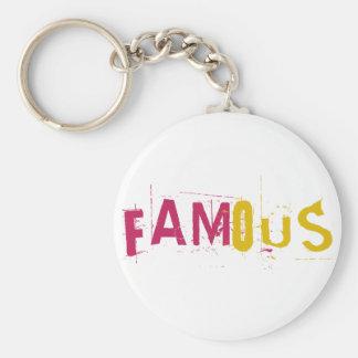 Famous Basic Round Button Keychain