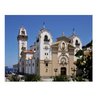 Famous basilica of Candelaria at Tenerife Postcard