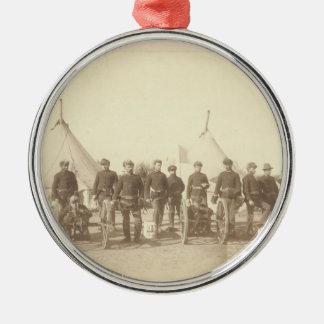 Famous Battery E 1st Artillery & 3 Hotchkiss Guns Christmas Ornament