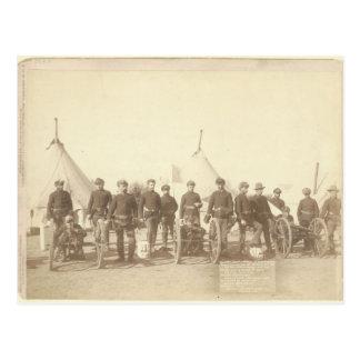Famous Battery E 1st Artillery & 3 Hotchkiss Guns Postcard