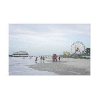 Famous Beach Canvas Print