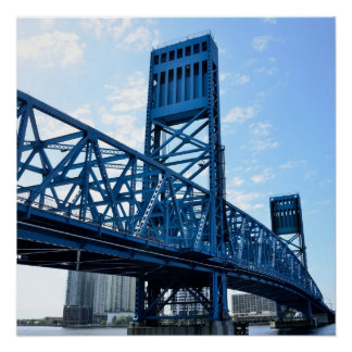 Famous Blue Bridge at Jacksonville, Florida Poster