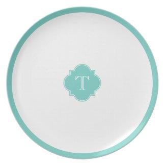 Famous Blue Monogram Dinner Plate