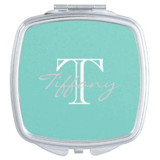 Famous Blue Monogram Makeup Mirror