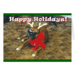 Famous Boxer-Reindeer Greeting Cards