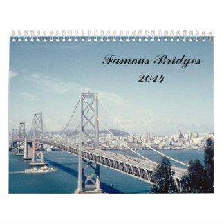 Famous Bridges 2014 Wall Calendar