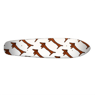 Famous Brown Abstract Dachshund Skateboard