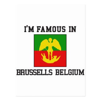 famous Brussels Belgium Postcard