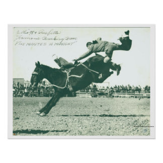 Famous Bucking Bronc Five Minutes Poster