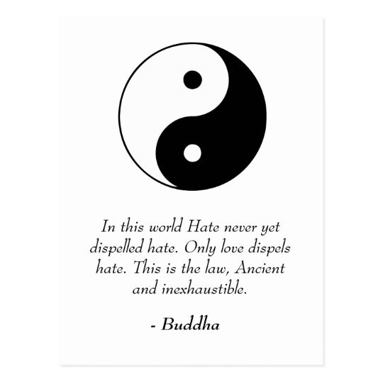 Famous Buddha Quotes - Love and Hate Postcard