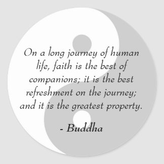 Famous Buddha Quotes - Power of Faith Classic Round Sticker