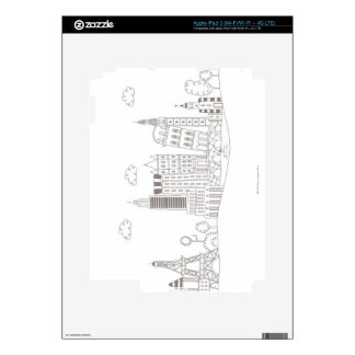 Famous Buildings Skin For iPad 3