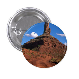Famous buttes rock formation pinback buttons