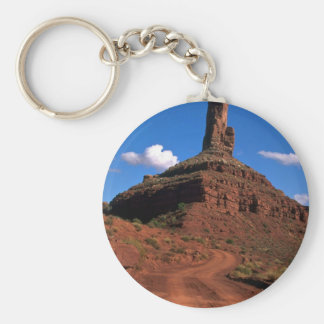 Famous buttes rock formation keychains